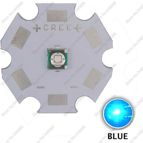 10pcs lot cree xl xp e xpe blue color 470nm 475nm 3w high power led emitter diode on 8mm