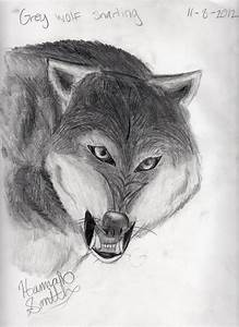 Snarling wolf sketch by HannahTheArtistic on DeviantArt