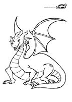 Dragon coloring pages-for baby dragon egg craft | Dragon