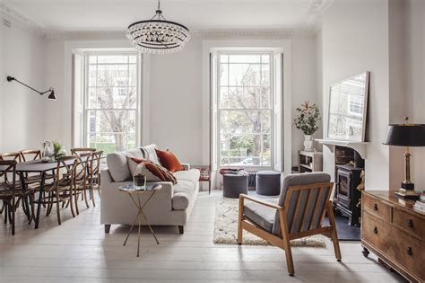 london family home refurbishment mixing  scandinavian style  youthful eclecticism