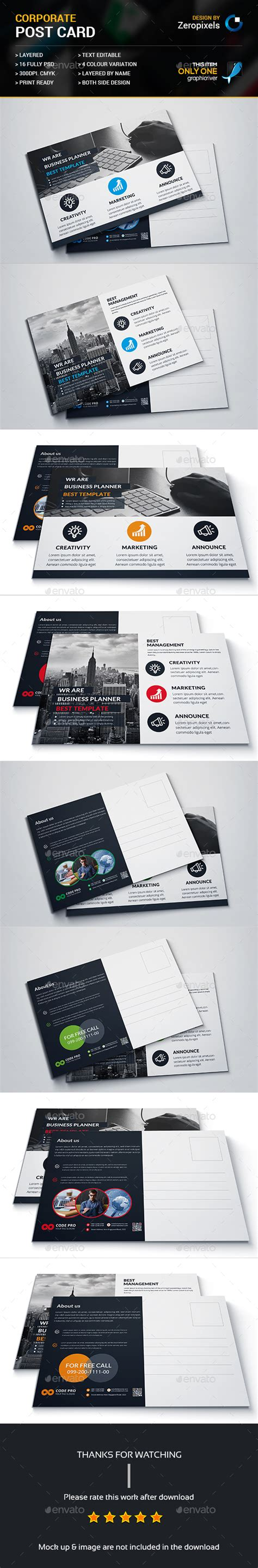 postcard template graphicriver post card bundle templates psd here http