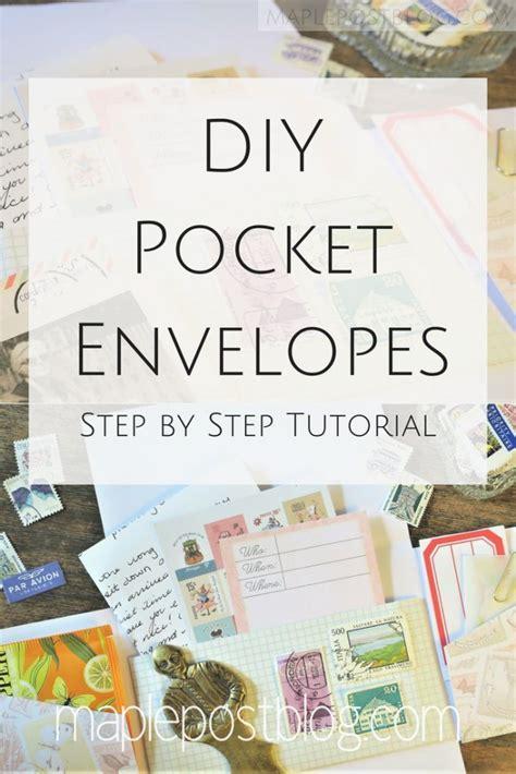 pocket envelopes diy crafts pocket