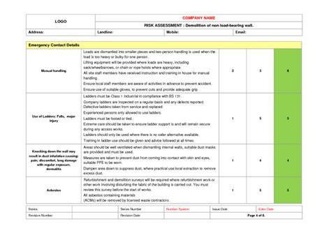 demolition risk assessment