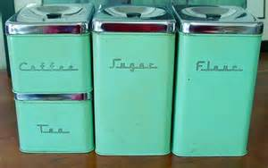 modern kitchen canisters retro mid century canister set 4 pieces green with chrome lids