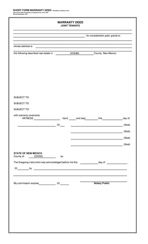 20953 warranty deed form template 40 warranty deed templates forms general special
