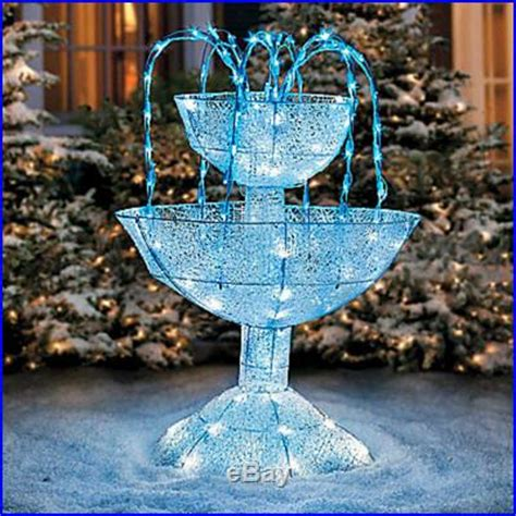 sparkling led lighted christmas fountain outdoor yard