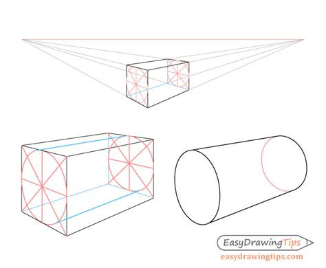 draw cylinders  perspective tutorial