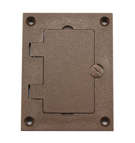 Wiremold Floor Box Cover Colors by Wiremold Walker 828prgfi Brn Brown Non Metallic Gfi Plate