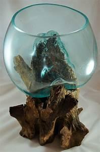 Kalkflecken Auf Glas : unikat skulptur vase schale glas auf teak holz wurzel 45x38x38 cm 20 glasflaschen ~ Watch28wear.com Haus und Dekorationen