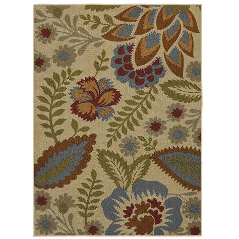 floral area rugs mohawk home crewel floral spice 5 ft x 7 ft area rug