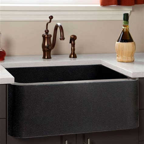 granite composite farm sink polished granite farmhouse sink chiseled front
