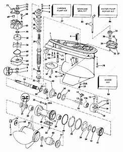 Johnson 1986 140 - J140tlcdc  Gearcase