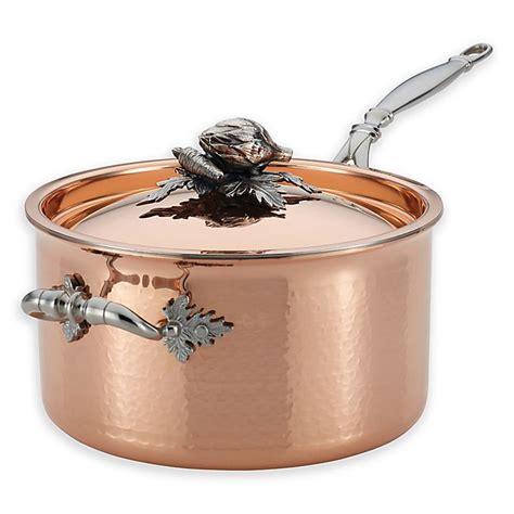 ruffoni opus cupra  qt copper covered saucepan