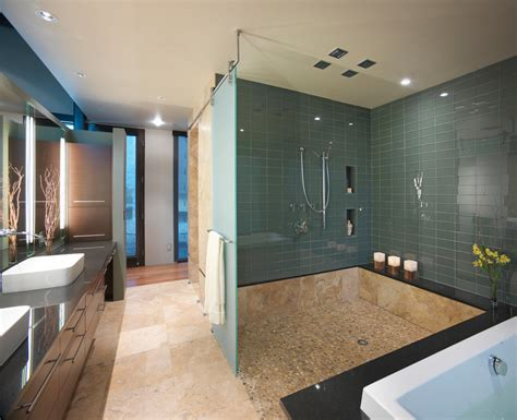 Modern Glass Tile Bathroom Ideas by 30 Great Bathroom Glass Tile Photos And Pictures