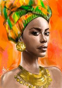 African woman by psichodelicfruit   African-American Art ...