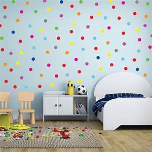 Polka circles wall decor : Pcs rainbow multi color size confetti polka dots circles