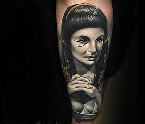 Portrait tattoo of Cleopatra by Benjamin Laukis | No. 300