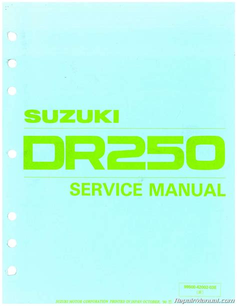 suzuki dr sp motorcycle service manual