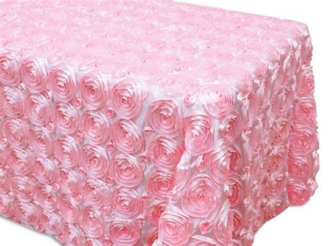 Tablecloths Glamorous Pink Cloth Tablecloth Light Pink