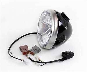 Classic Headlight    Tiny Integrated Speedometer For Triumph  Pre