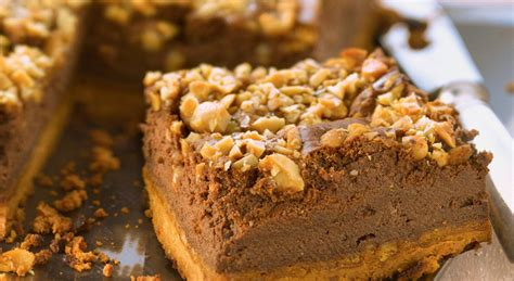 cuisine caramel un cheesecake au chocolat et au beurre de cacahuète
