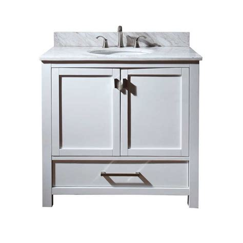White 36 Bathroom Vanity Without Top by Avanity 36 Quot Modero Cabinet Only W O Top White Modero V36