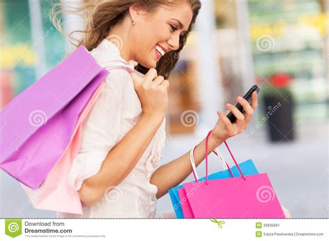 attractive woman shopping stock image image