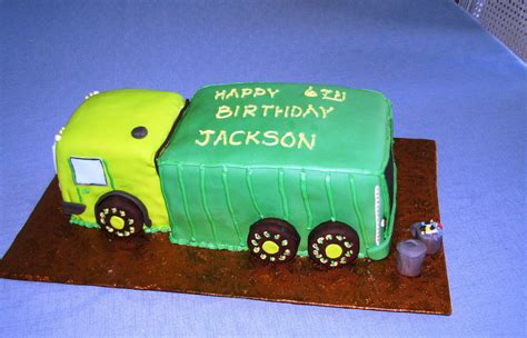 garbage truck cakes decoration ideas  birthday cakes