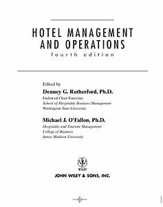 essay on hotel management