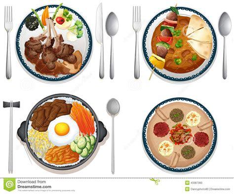 cuisine illustration international food stock vector image of graphic