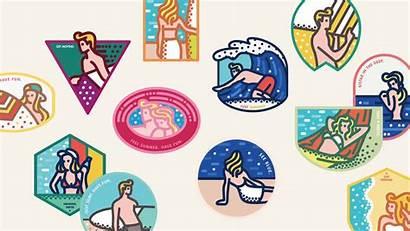 Beach Sticker Stickers South