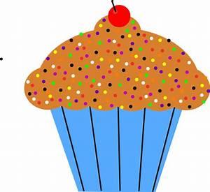 Vanilla Cupcake clipart kartun - Pencil and in color ...