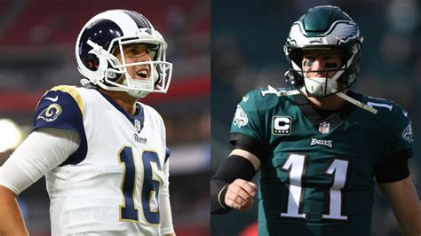 jared goff  carson wentz  mvp candidates   numbers