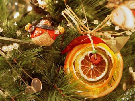 bright orange christmas ornaments warm yellow color of lemons and bright decorating ideas