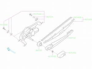 Subaru Forester Back Glass Wiper Arm  Rear   Electrical