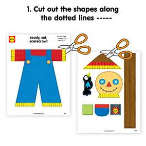 thanksgiving crafts make a scarecrow printable alex toys alex toys