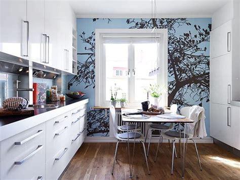 modern kitchen wallpaper фотообои в интерьере кухни выбор дизайна и идеи 4229
