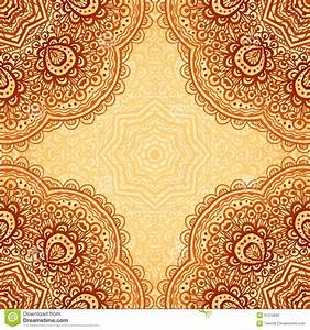 Ornate Ethnic Henna Colors Vector Background Stock Photos ...