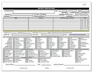 osha risk assessment template - job hazard analysis template the free website templates