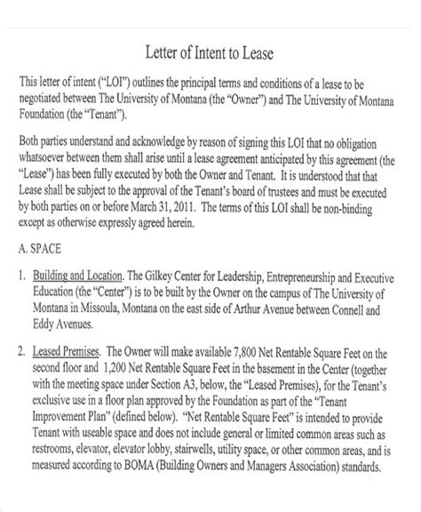 sample lease proposal letters  pages