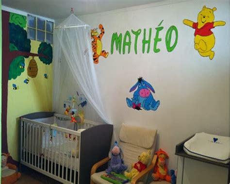 chambre winnie l ourson pour bébé decoration chambre bébé winnie l 39 ourson bébé et