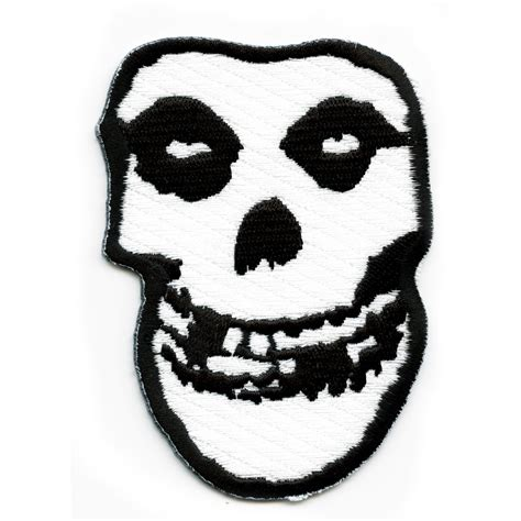 Misfits Skull Logo Iron On Patch