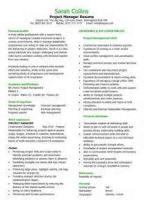 sle resume exles construction project project manager resume resume sles better written resumes free resume templates resume