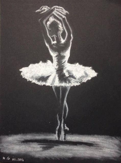 Dessin Sur Papier Noir La Danseuse 233 Toile Jeu De Lumi 232 Re Dessin Au Pastel Blanc Sur