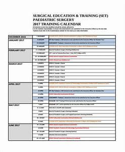 9 training calendar templates free sample example With training calendars templates