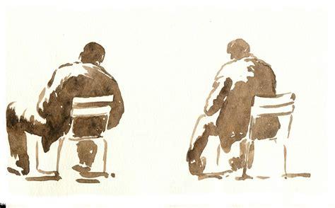 personnages+assis - Photo de aquarelles jardin du ...