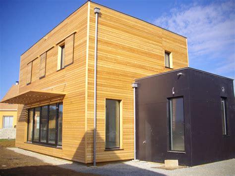 maison cube en bois maison cube bois labellis 233 e passive passivhaus sarthe 72 2 nature et logis