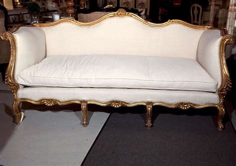 canapé français rococo style giltwood canape sofa for sale at 1stdibs
