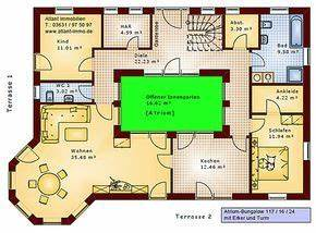 Atrium Bungalow Grundrisse : atrium bungalow 117 16 24 grundriss mit erker und turm einfamilienhaus neubau massivhaus stein ~ Bigdaddyawards.com Haus und Dekorationen