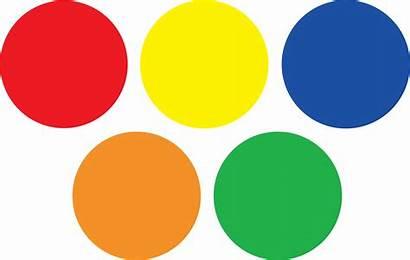 Circle Colored Clipart Circles Colors Colorful Dot